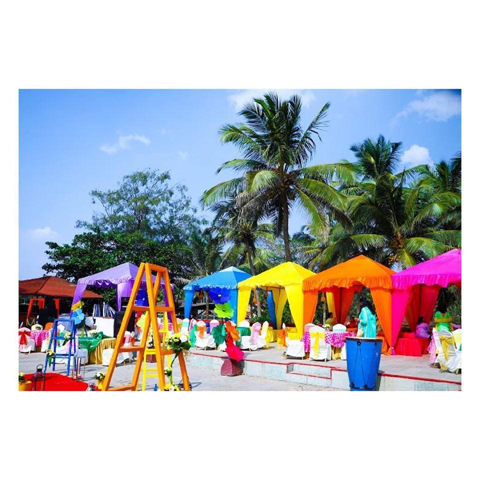 Multi color Canopies Quirky Mehendi Decor