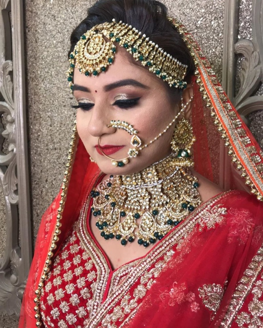 Beautiful Airbrush Makeup on Indian Bride