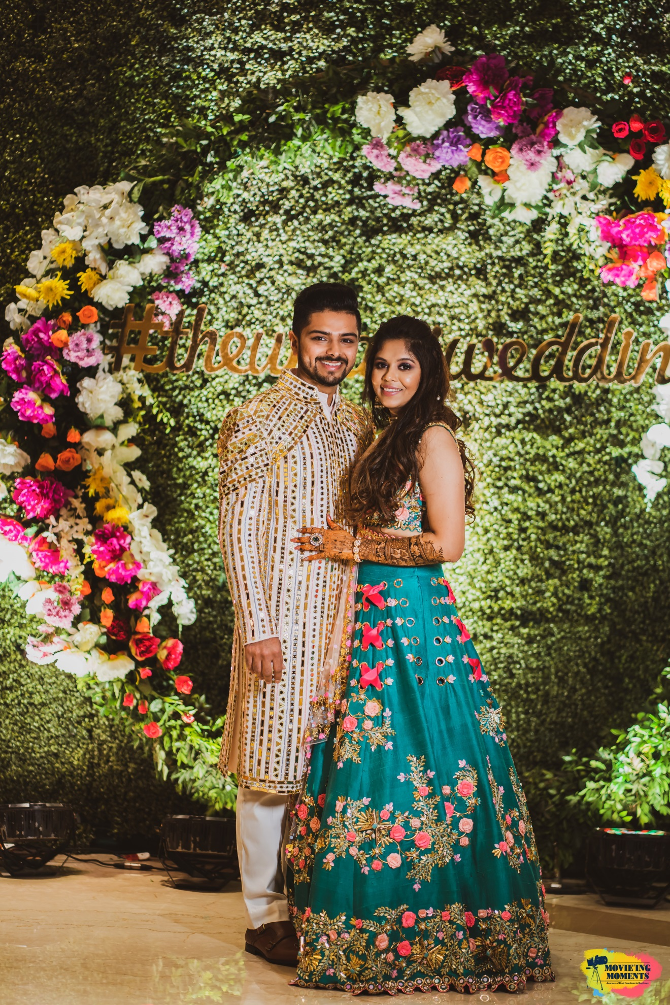 Sangeet outfit ideas for bride and groom