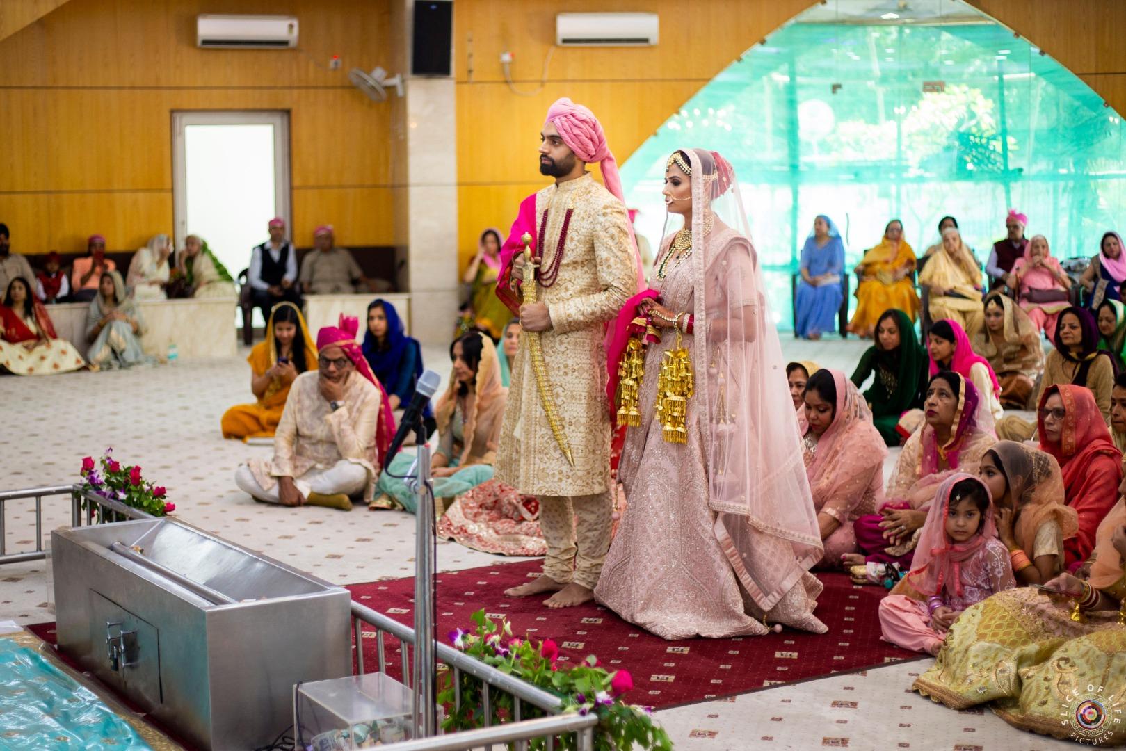 Gurudwara Wedding of Sikh Couple