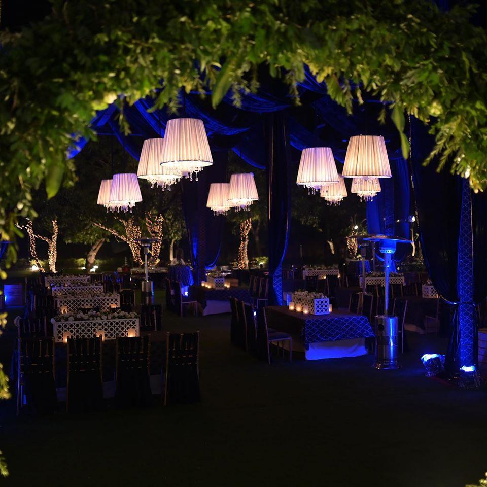 beautiful lights wedding decoration