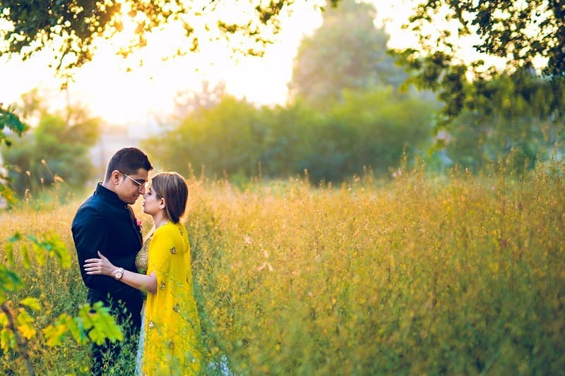 Pre Wedding Photography in Fields
