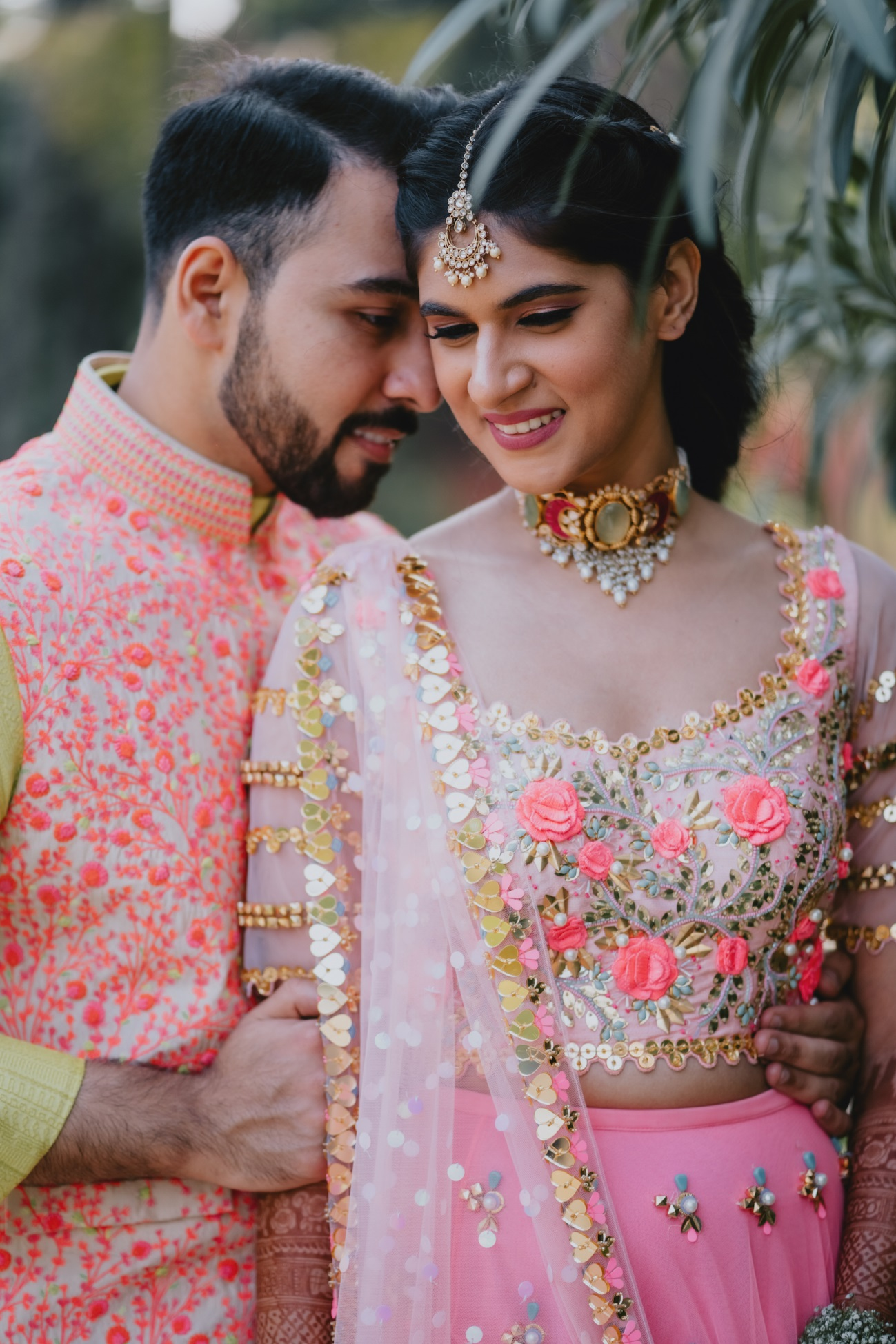 Traditiona bride and groom wear