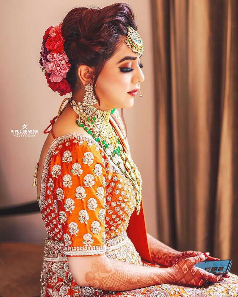 Beautiful Bridal Portrait in Indian Wedding Outfit