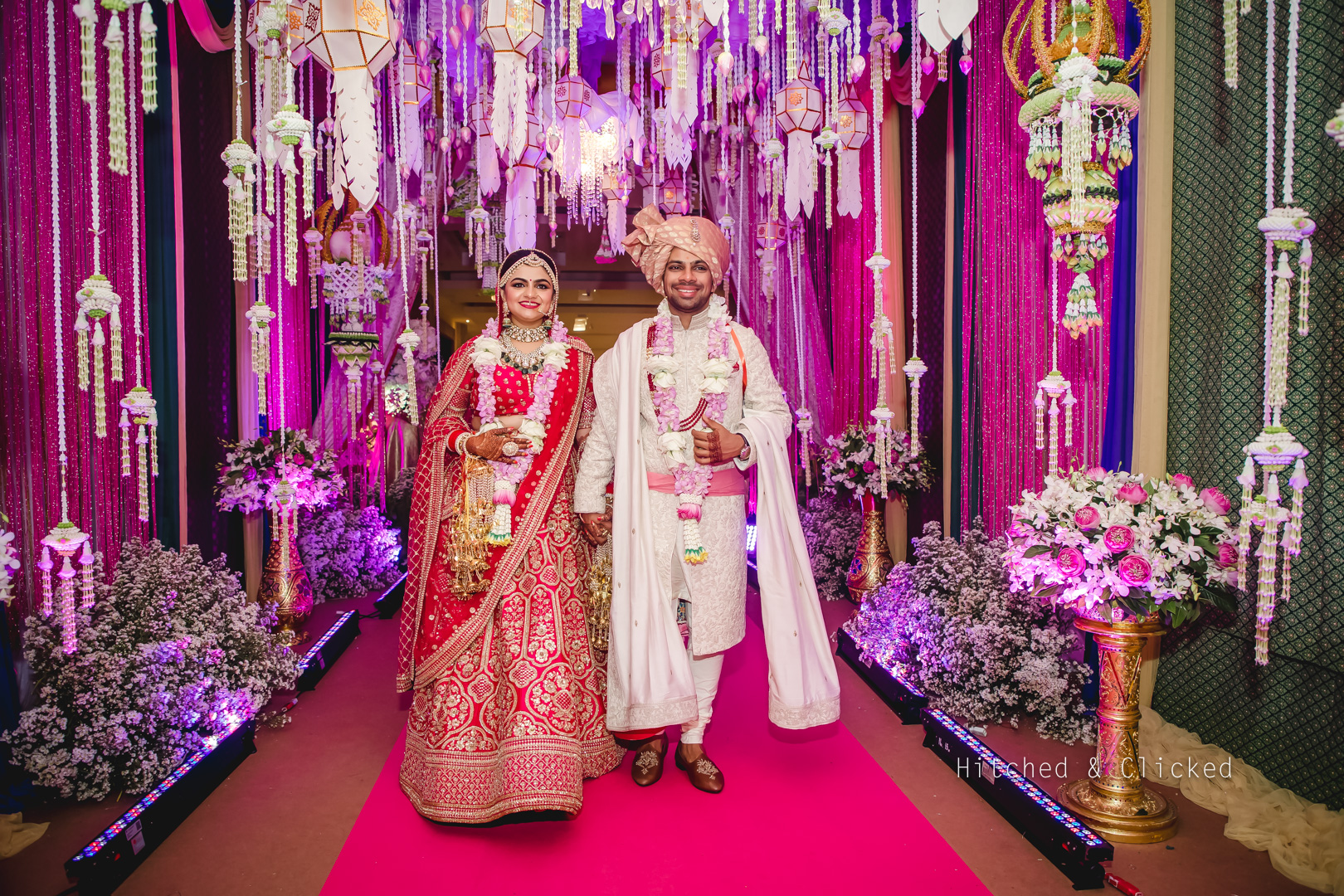 couple entry at thailand destination wedding