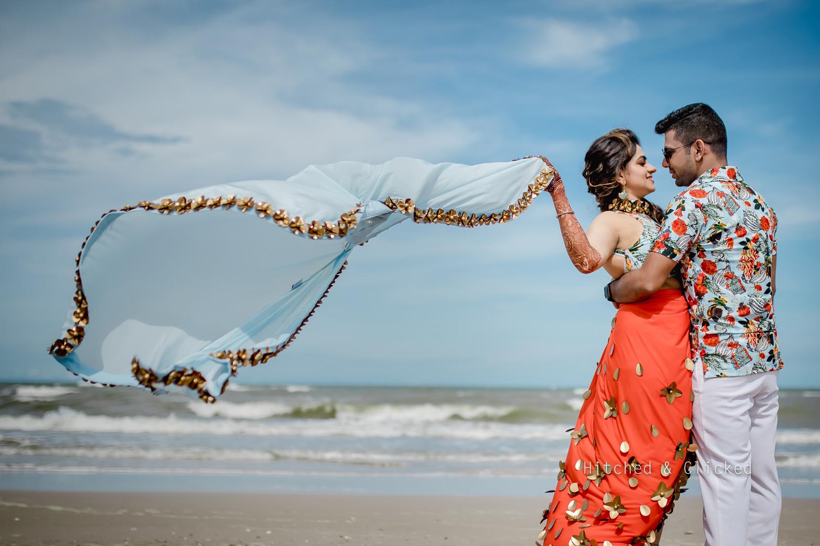 pre wedding shoot at beach