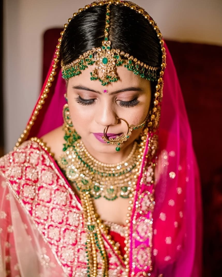 Golden and Green Bridal Jewelry