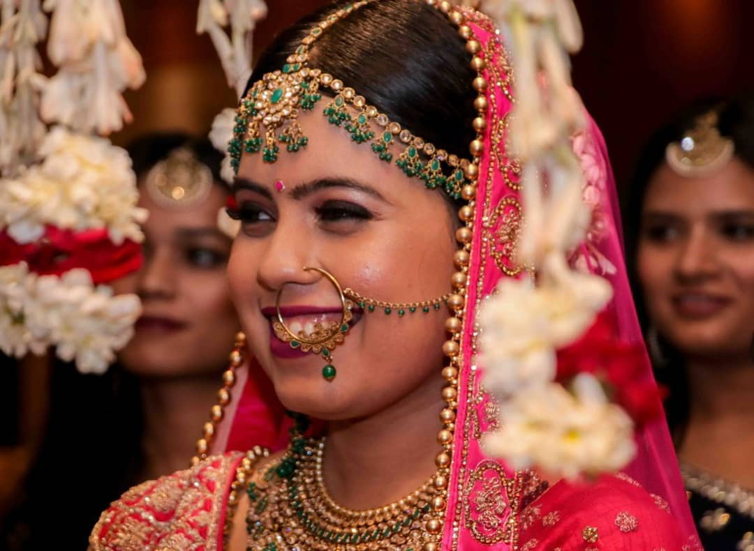 Bride Winking at her Bridal Entry