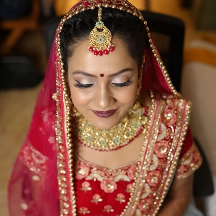 Red and Golden Bridal Accessories